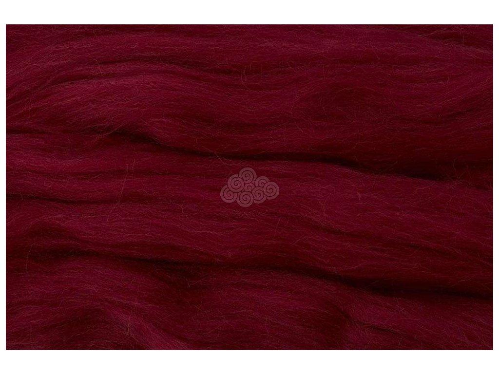 MERINO česanec purpurově červená 22