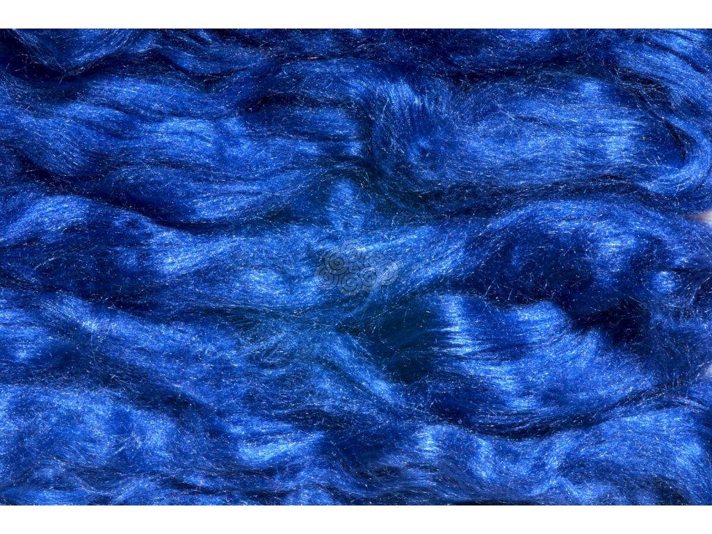 Hedvábí Tussah - královsky modré