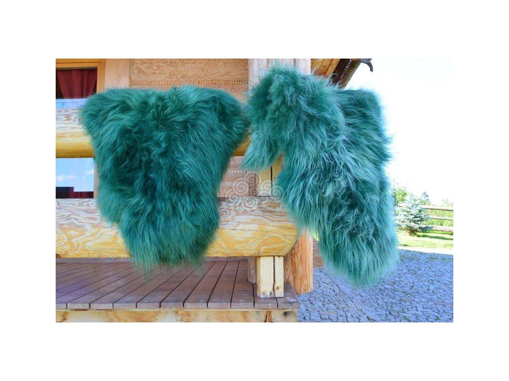 Islandská ovčí kožešina zelená