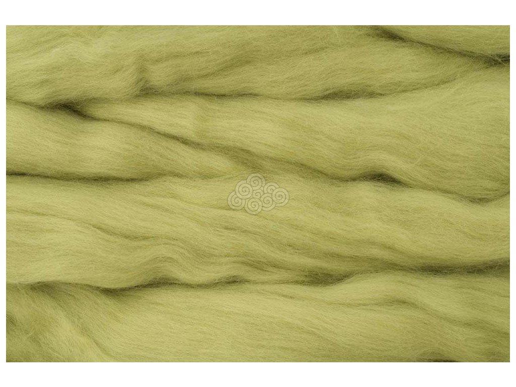 MERINO česanec pistáciová zelená 36