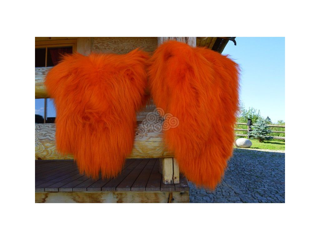 Islandská ovčí kožešina oranžová