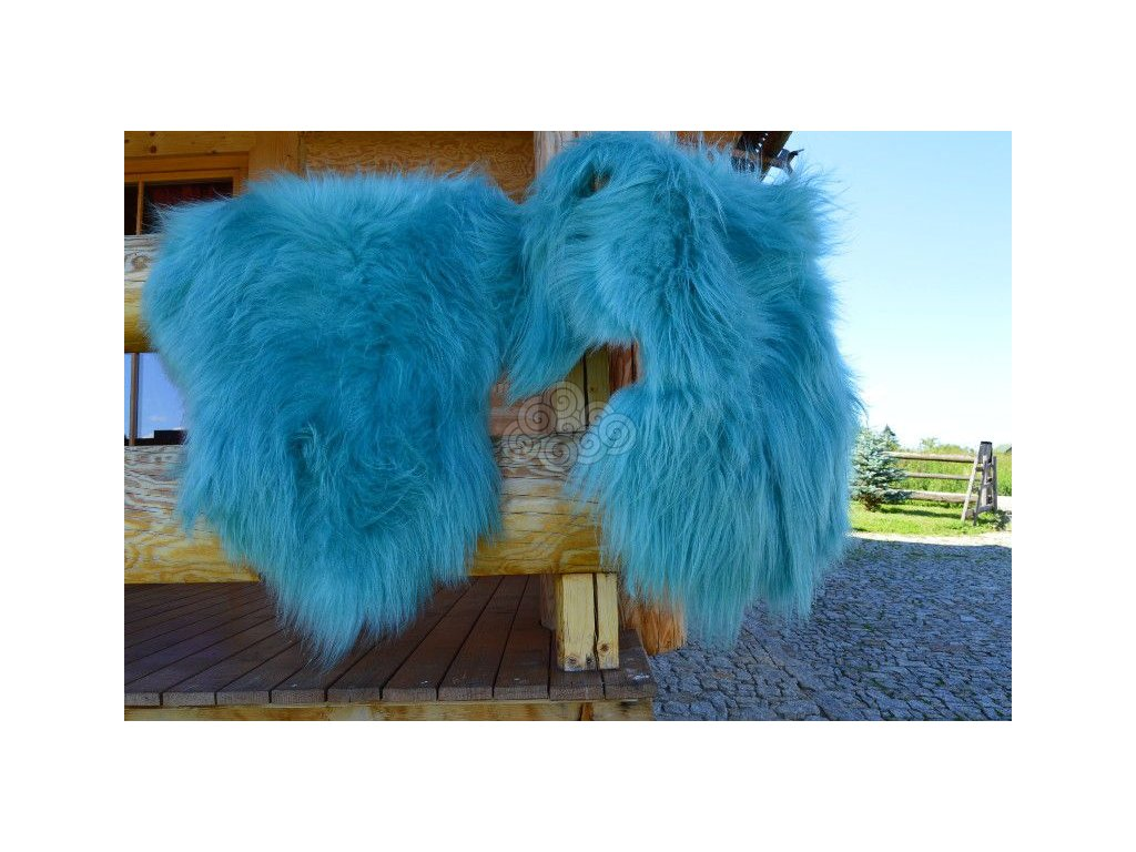 Islandská ovčí kožešina tyrkysová