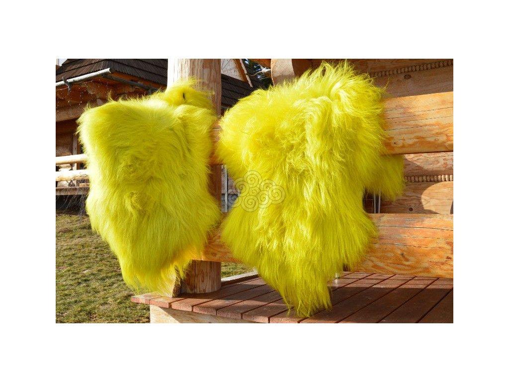 Islandská ovčí kožešina žlutá