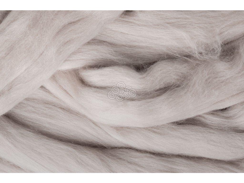 MERINO česanec hedvábně šedá 50