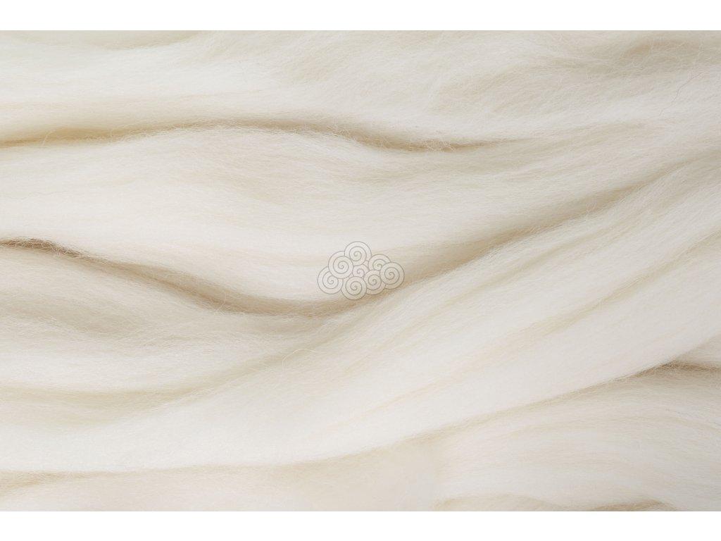 XXL vlna bílá bělená 34