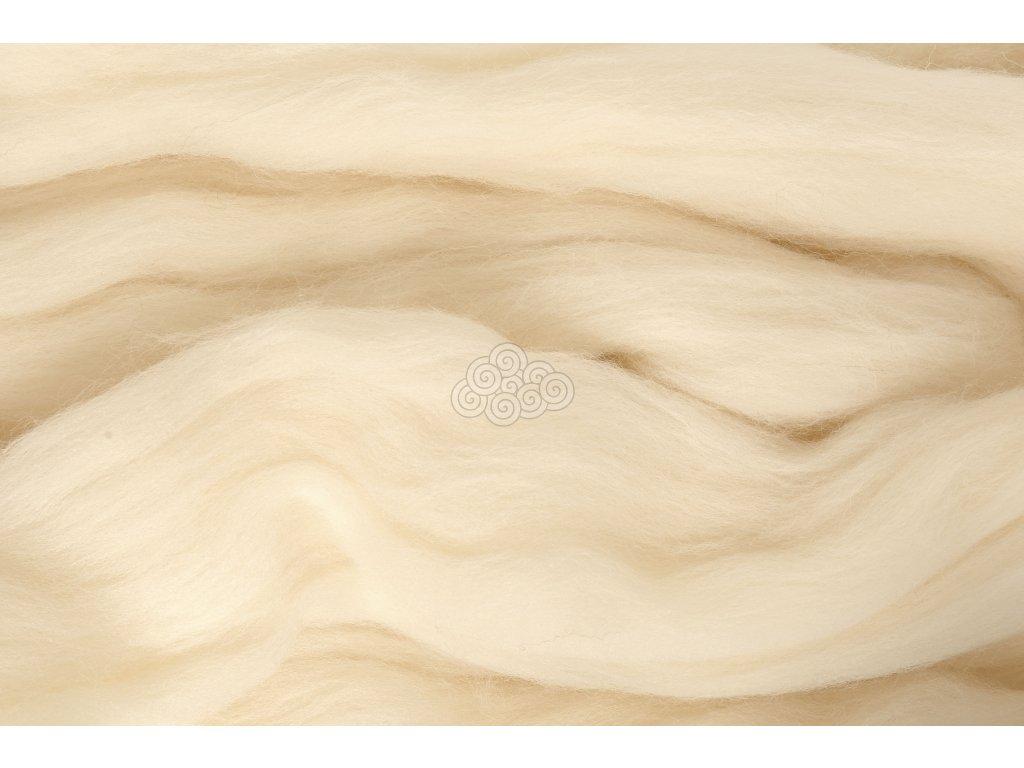 XXL vlna bílá přírodní 55