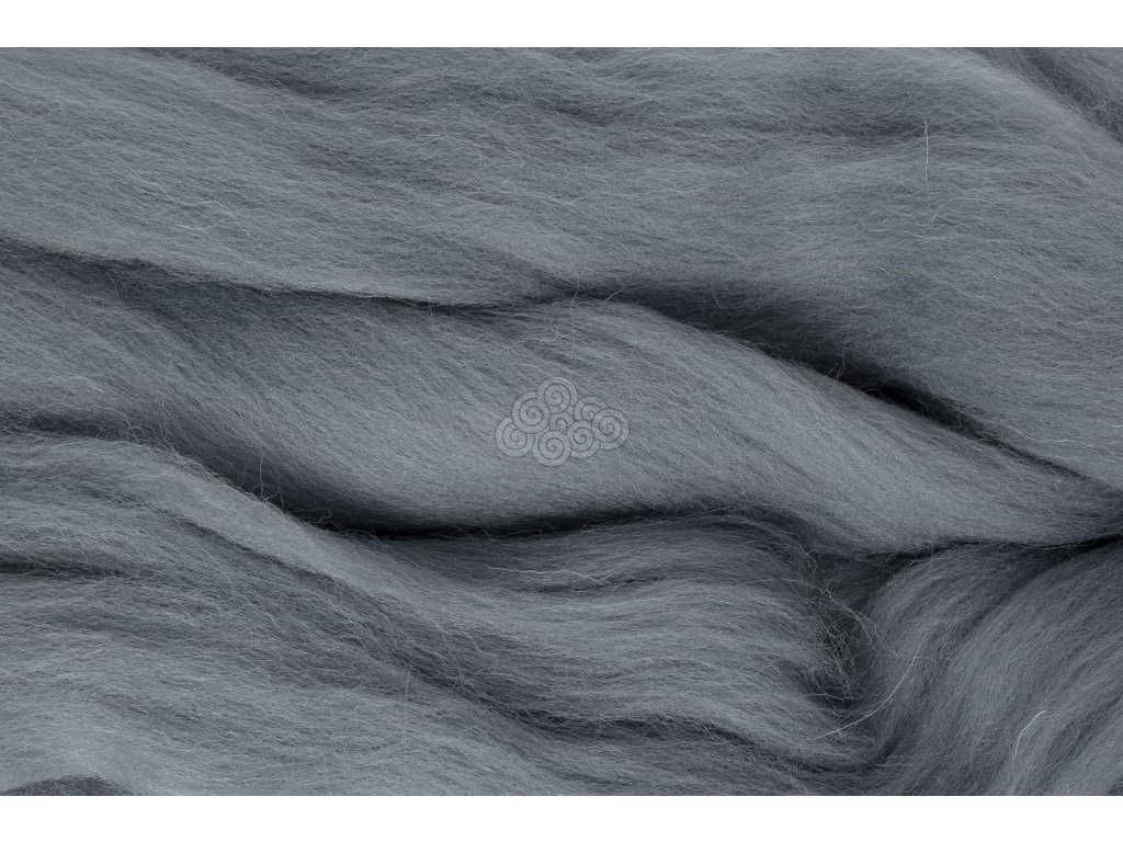 XXL vlna stříbrná šedá 41