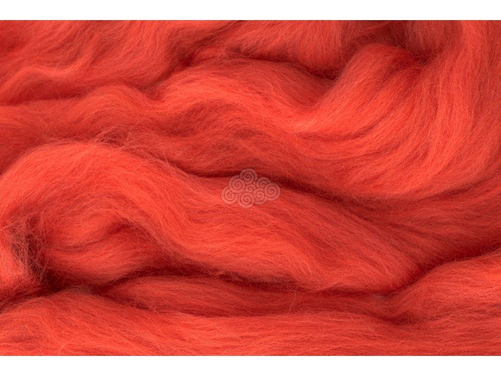 MERINO česanec lososově oranžová 27