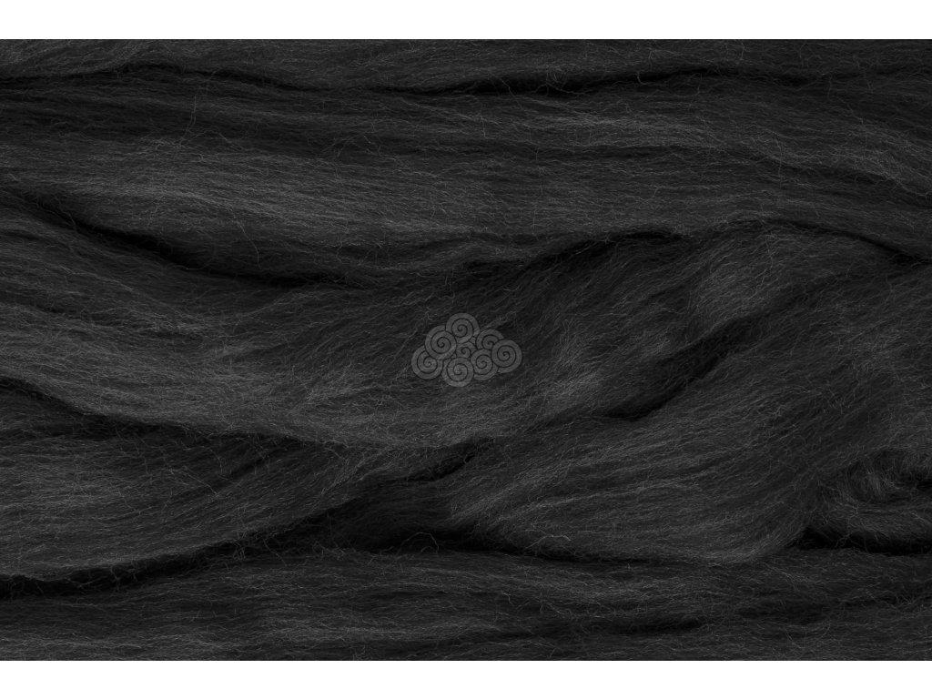 MERINO česanec černá melír 33