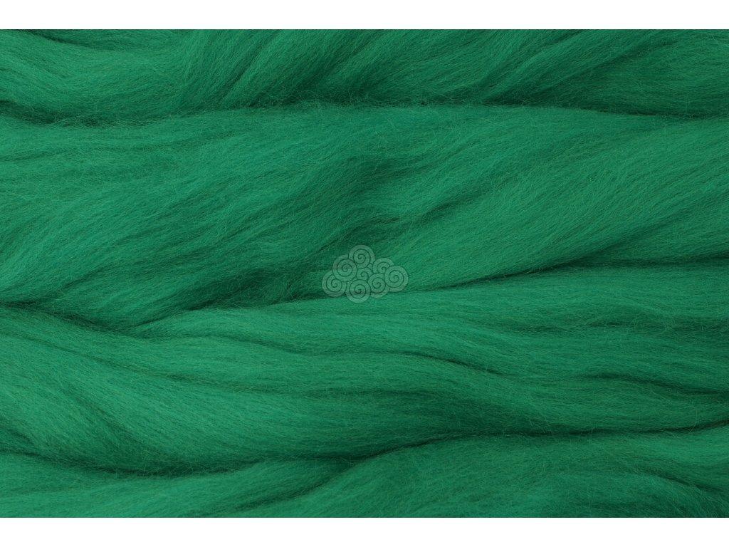 MERINO česanec signální zelená 37