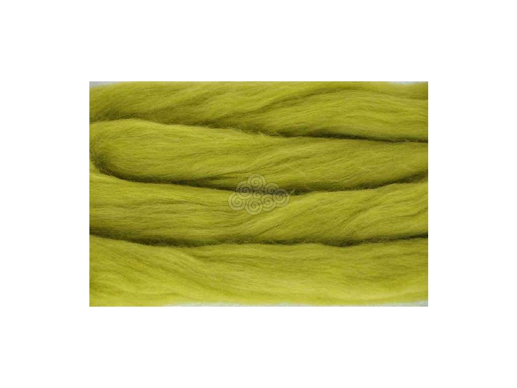 MERINO česanec limetková zelená 40