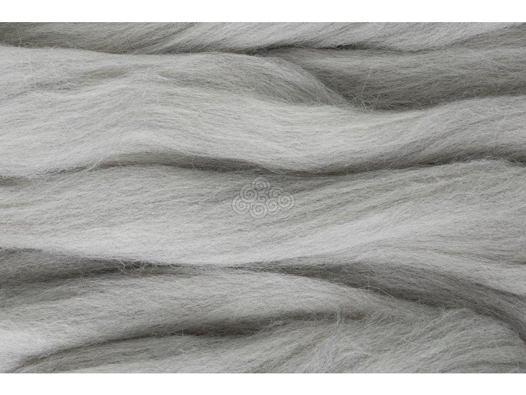 XXL vlna melír světlý šedý 72