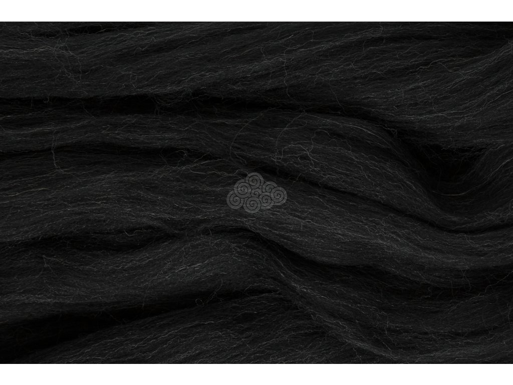 XXL vlna černý melír 42