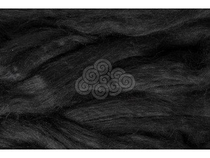 Hedvábí Tussah - černé