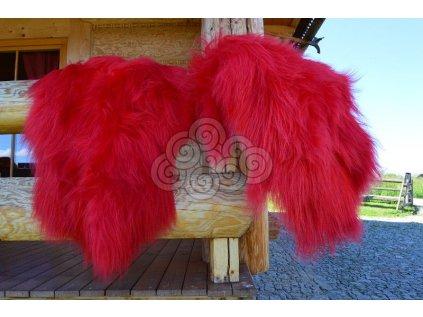 Islandská ovčí kožešina červená