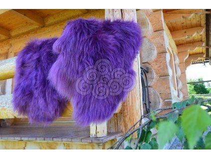 Islandská kožešina fialová