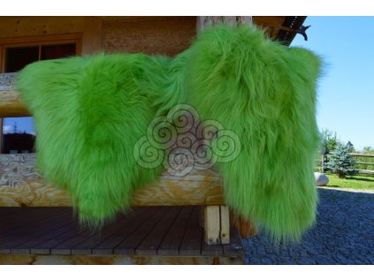Islandská ovčí kožešina sv.zelená