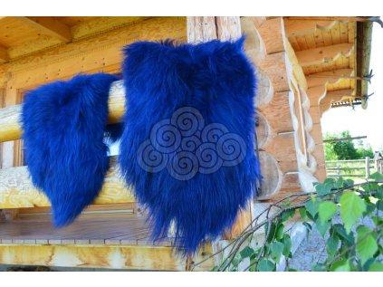 Islandská ovčí kožešina modrá
