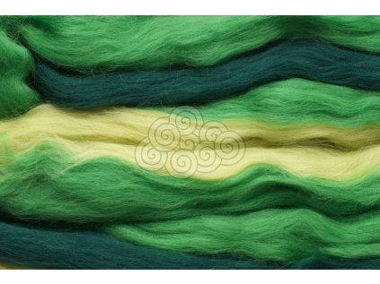 Merino melírované duhové - zelená