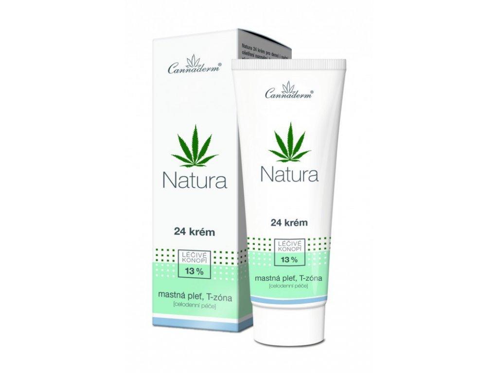 Cannaderm Natura 24 krém pro mastnou pleť 75 g