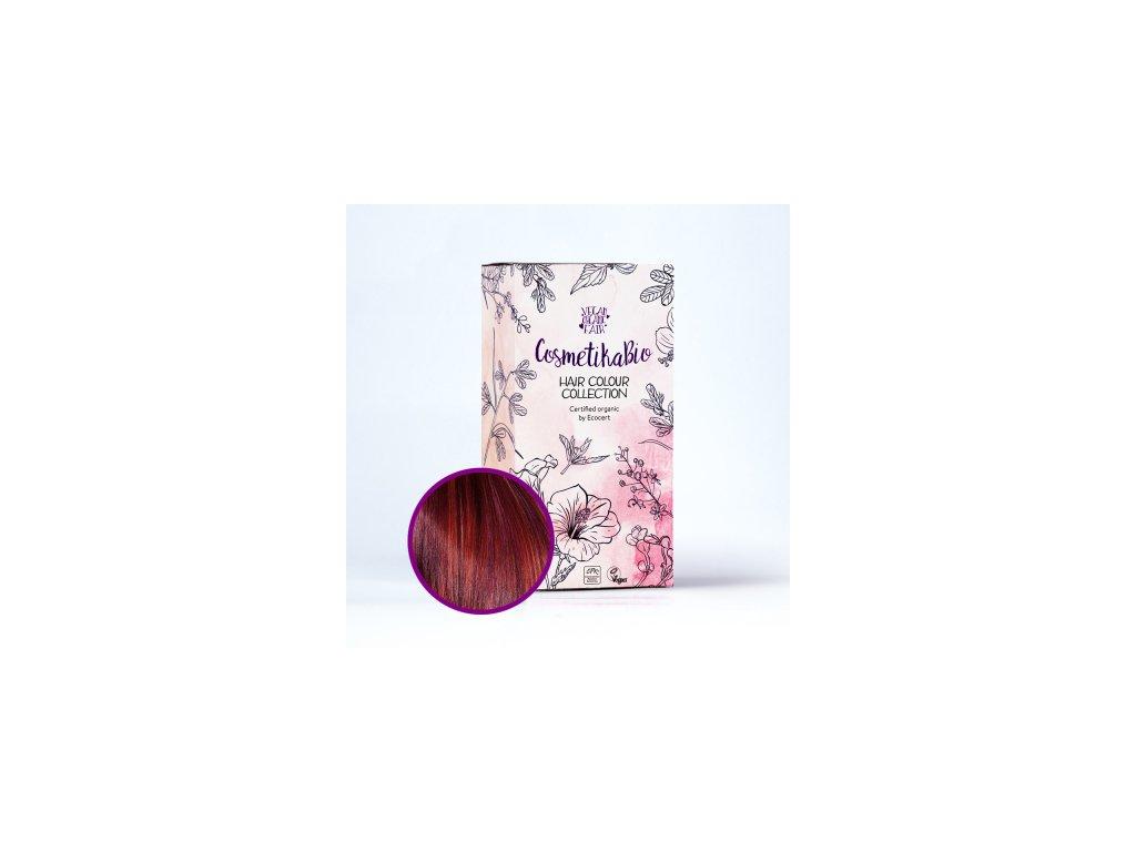 COSMETIKABIO 100% přírodní barva na vlasy Burgundy 100 g
