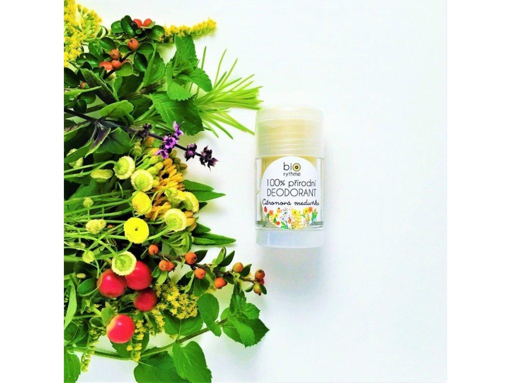 BIORYTHME 100% přírodní tuhý deodorant Citronová meduňka