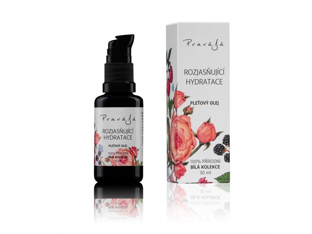 PRAVÁJÁ Obličejový olej Růže/Pelargonie 30 ml