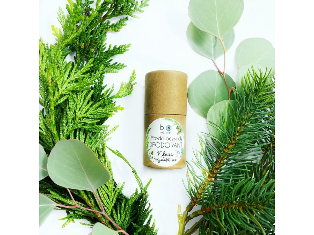 BIORYTHME 100% přírodní BEZSODÝ tuhý deodorant V lese najde(š) se 35 g