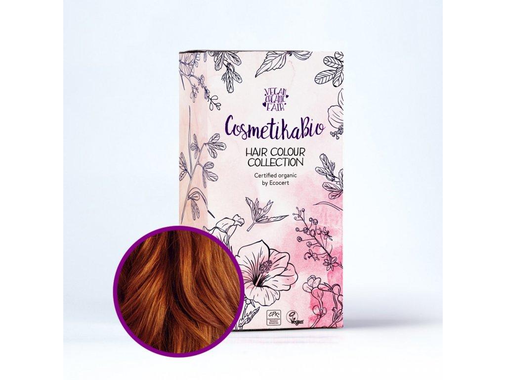 COSMETIKABIO 100% přírodní barva na vlasy Měděná hnědá l Copper Brown 100 g