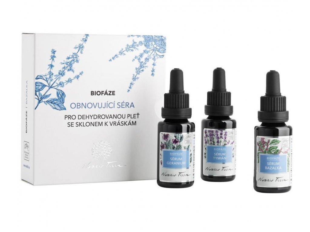 NOBILIS TILIA Obnovující séra Bazalka 3x20 ml
