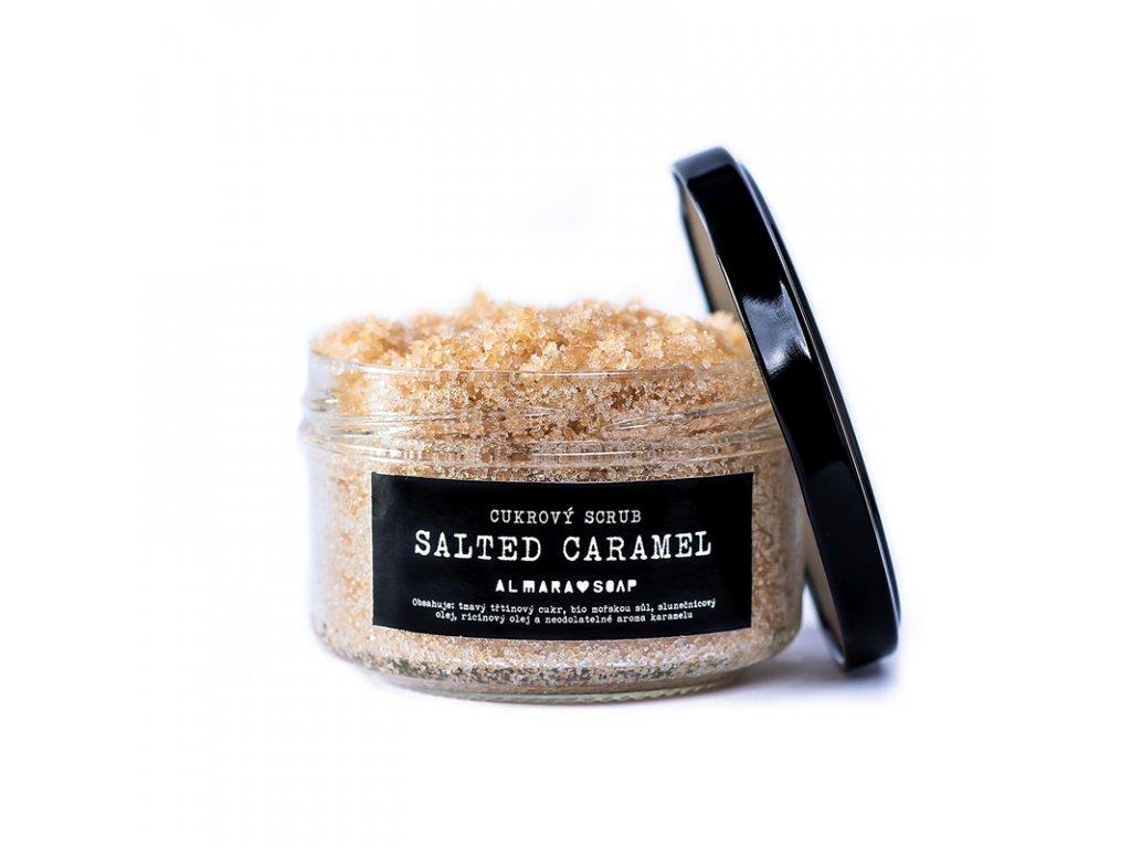 ALMARA SOAP Přírodní cukrový scrub Salted Caramel 140 g