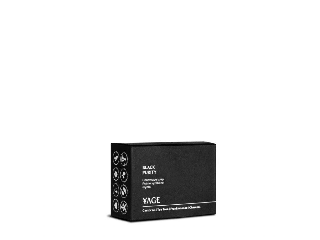 YAGE Ručně vyrobené mýdlo BLACK PURITY 90 g