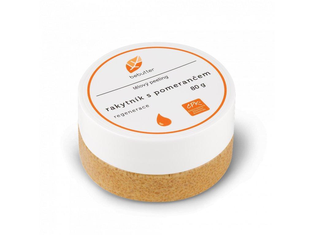 BEBUTTER Tělový peeling Rakytník s pomerančem 80 g