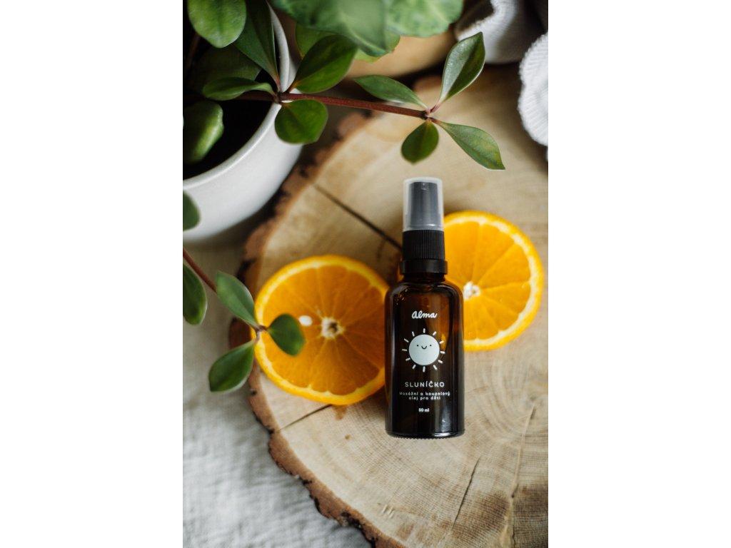 ALMA Masážní a koupelový olej Sluníčko 50 ml
