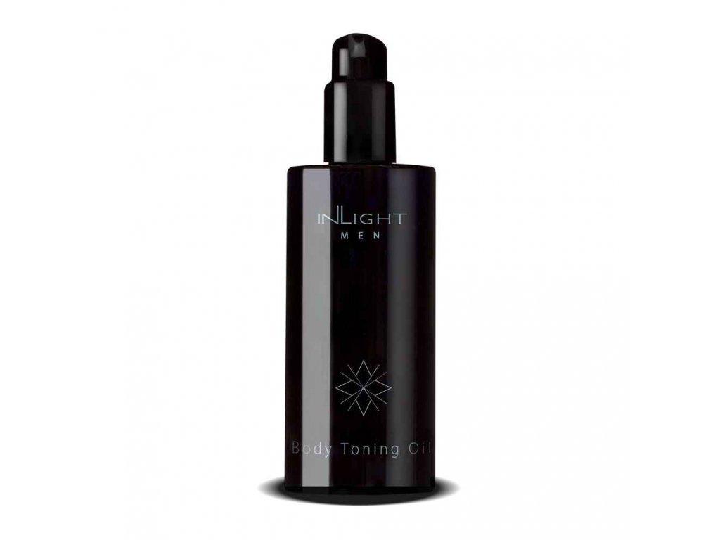 INLIGHT Bio regenerační a masážní tělový olej pro muže 200 ml
