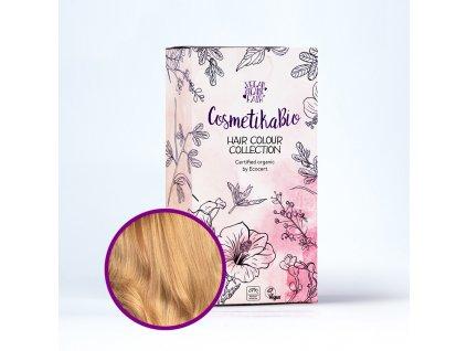 COSMETIKABIO 100% přírodní barva na vlasy Zlatá blond l Golden blonde 100 g
