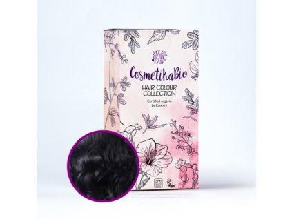 COSMETIKABIO 100% přírodní barva na vlasy Černá l Black 100 g