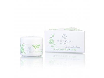 DULCIA NATURAL Krémový deodorant Citronová tráva - máta 30 ml