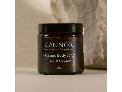 cannor cannor.cz konopná kosmetika s cbd přírodní kosmetika Peeling na obličej a tělo Face Body Scrub