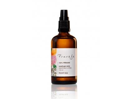 PRAVÁJÁ Tělový olej osvěžující GRAPEFRUIT / CYPŘIŠ 100 ml