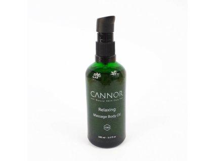 CANNOR Masážní olej s CBD 100 ml