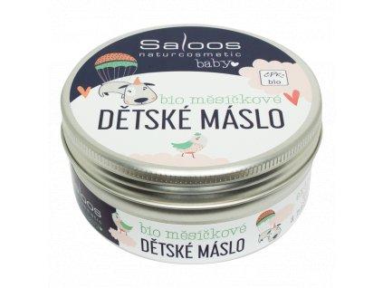SALOOS Šlehané bio měsíčkové dětské máslo 150 ml