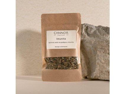 cannor.cz přírodní kosmetika CBD Přírodní směs bylin na podporu imunity – Konopí a Echinacea 600x600