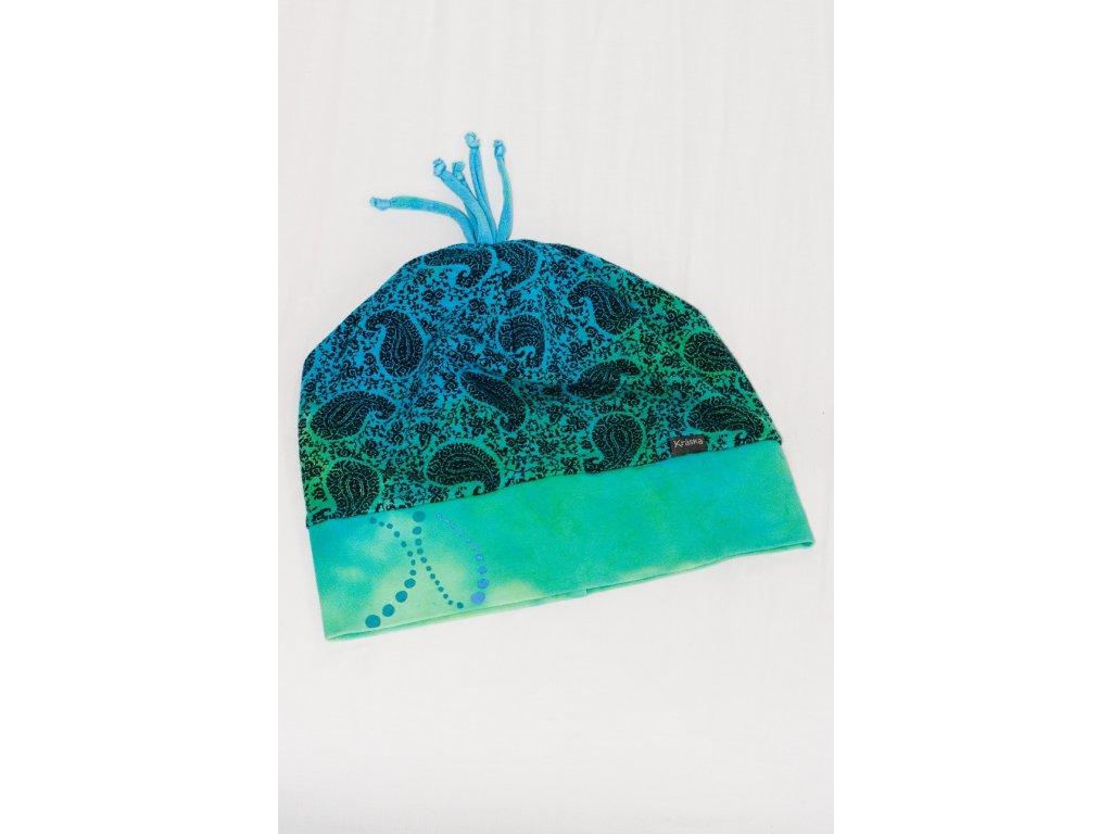 Ručně malovaná dámská zimní čepice