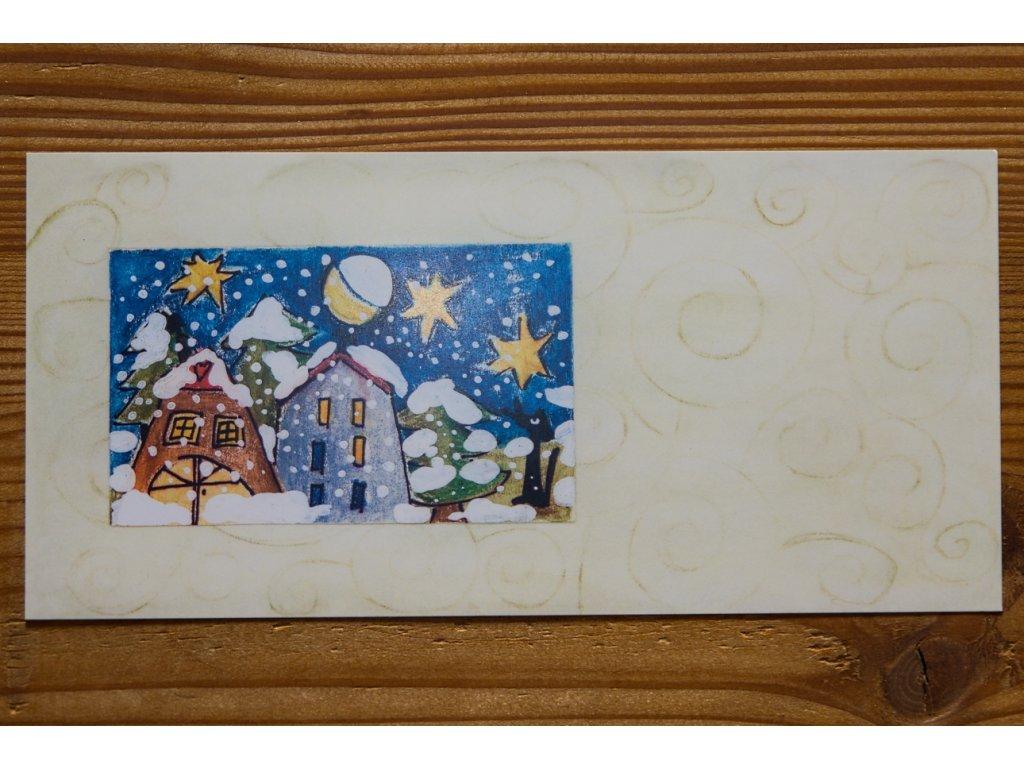 """Blahopřání, papírová gratulace """"Zimní a vánoční č.2"""""""