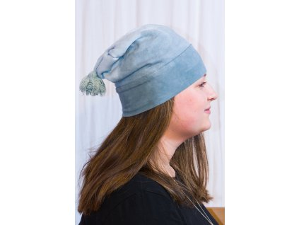 Ručně barvená dámská zimní čepice