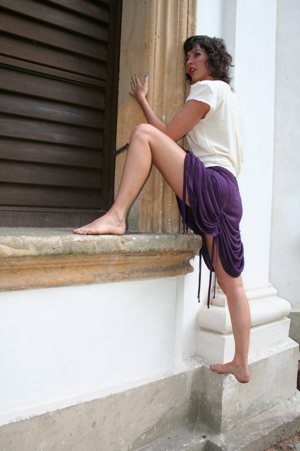 bambusová variabilní sukně tunika, pončo