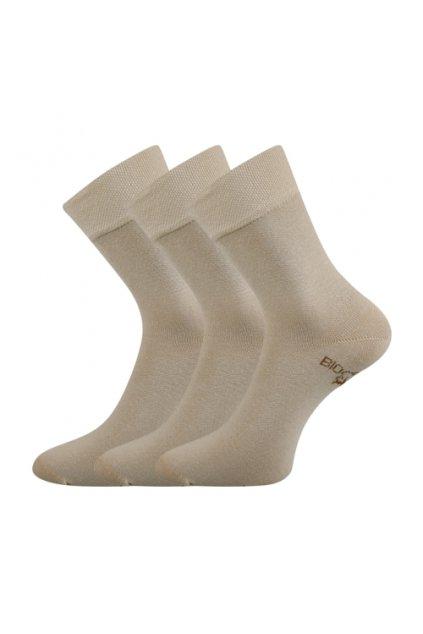 Bio ponožky smetanové