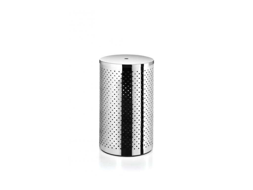 Lineabeta Basket Koš na prádlo s víkem - leštěná nerezová ocel 5352.29.29
