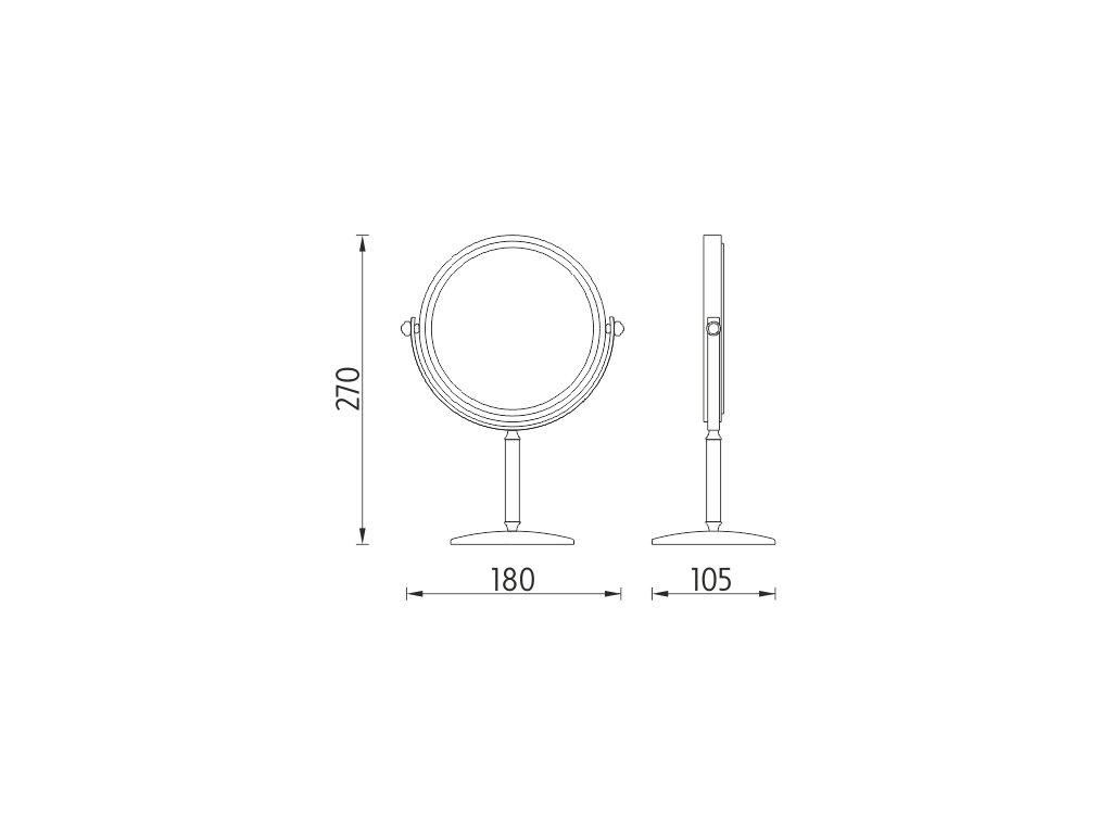 Nimco Kosmetické stojánkové zrcadlo, ZR 3892B-26  Hotelový program